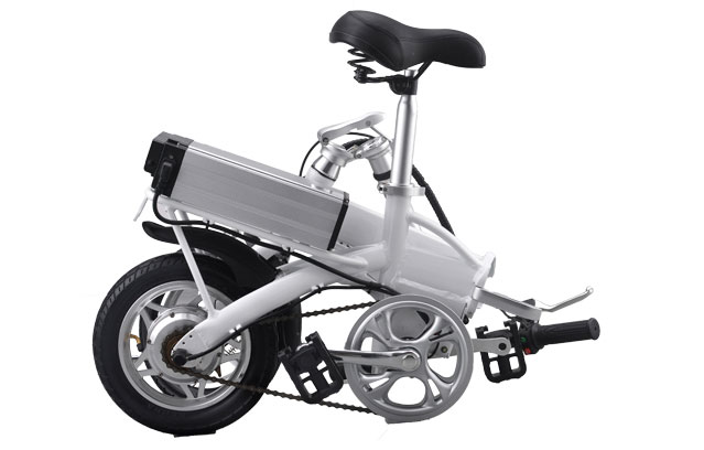 14 inch electric bicycle in folding status