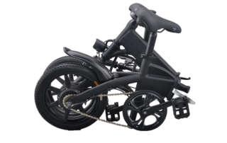 Knight electric bicycle in folding status