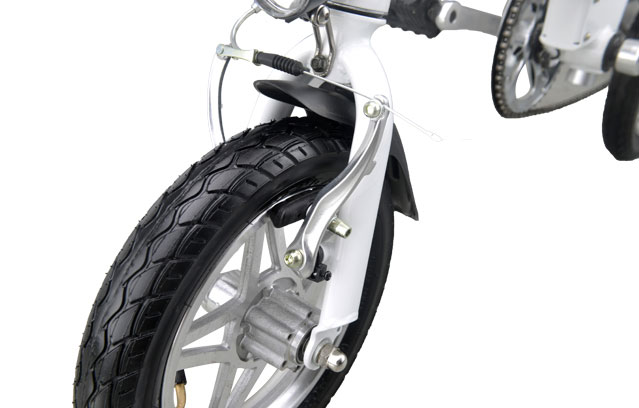 portable small electric bike front wheel