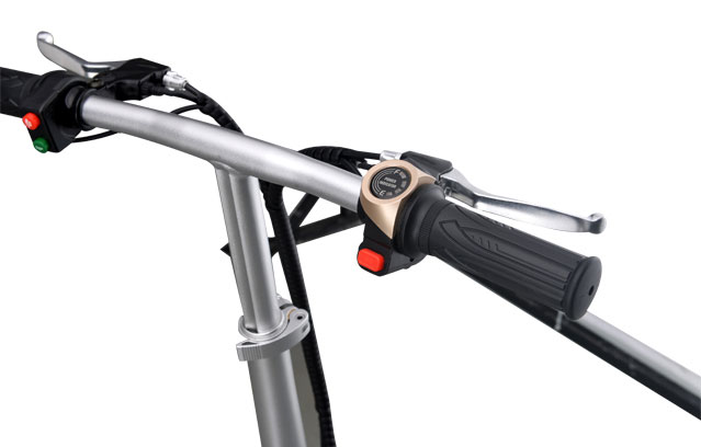 super light mini folding e bike handle bar