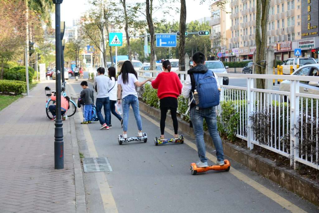 travel with hoverboard