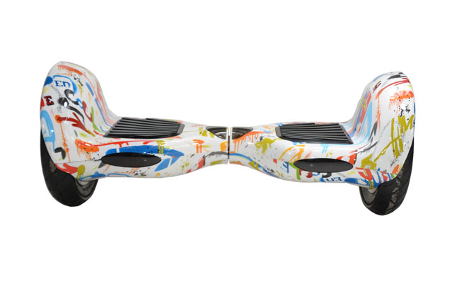 10 inch two wheel self balance scooter in graffiti white color