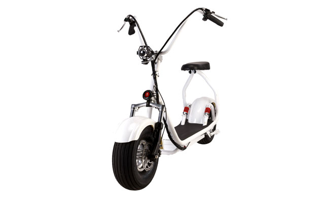 15 inch harley davidson electric scooter in white color