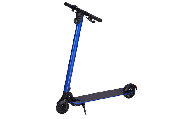 2017 latest folding carbon fiber electric kick scooter in blue color