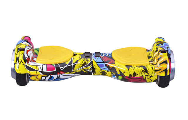 4.5 inch hoverboard in graffiti yellow color