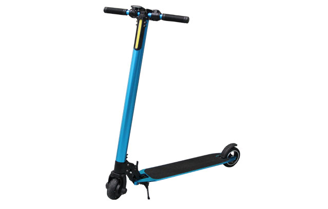 5 inch aluminum alloy electric kick scooter in light blue color