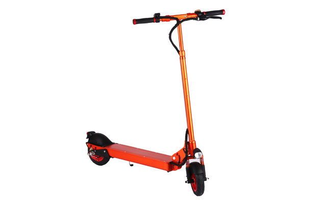 8 inch electric kick scooter in orange color