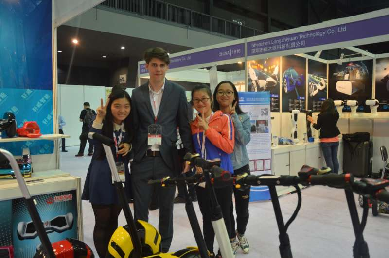 hoverboard manufacturer Xuanwei attend Global Source Electronics Fair on April 2016
