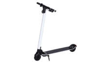 second 2nd generation carbon fiber electric scooter with kick stand in white color