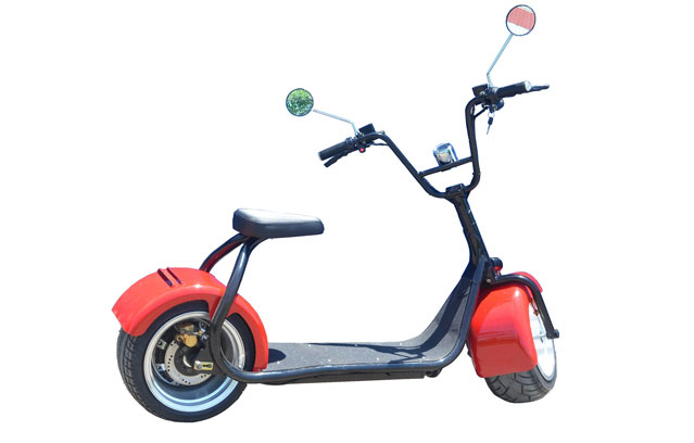 cool harley davidson electric scooter in red color