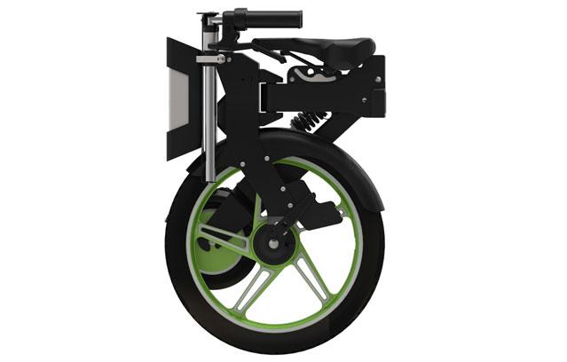 folding notebike green in black color